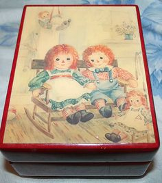 Raggedy Ann and Andy music box...