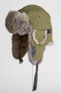 Canvas Trapper Hat with Rabbit Fur Trim Piskel Art, Trapper Hats, Character Outfits, Rabbit Fur, Fur Trim, Aesthetic Clothes, Poses, Cool Outfits, Winter Hats