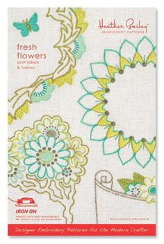 Fresh Flowers - Quilt Labels and Frames