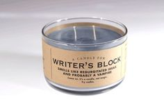 writer's block candle