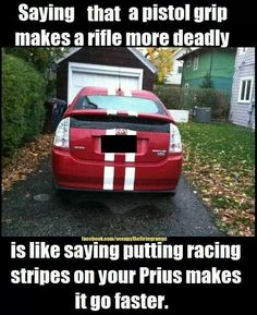 By statistics, racing stripes is more often a sign of a slower edition of the model in question.