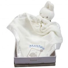 The Miffy Comforter is stunning, it is super soft and luxurious, ideal as an unusual baby Christening gift. Babies adore comforters, so a personalised baby comforter is a gift to give with confidence. The Miffy comforter is great for any occasion, you can't wrong - baby shower, newborn baby gift...... It also comes in a presentation box, which really gives the wow factor.  Available in; white