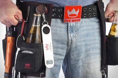 Pitt Boss BBQ Belt, AWESOME gift for any man. keep all the essentials for BBQ-ing (including your beers) right on your body. LOVE this #gift