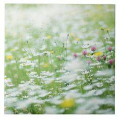 Blomsterträdgård Kakelplatta Av Kerami