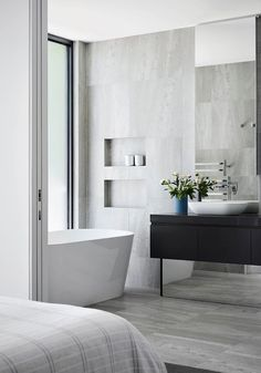 Bathroom | Brighton Townhouse by Martin Friedrich Architects | est living #interiordesignbathroom