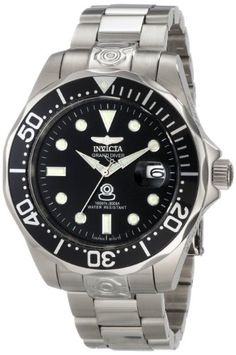 3220abe8ef0 Invicta Men s 3044 Stainless Steel Grand Diver Automatic Watch Sport  Watches
