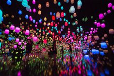 We love a good light show so today Design Gallerist bring to you a beautiful and extremely exceptional digital art museum in Tokyo, at the Mori Building, create Tokyo Museum, Light Installation, Art Installations, Pretty Photos, One Stroke, Light Art, Three Dimensional, Art Museum, Art Photography