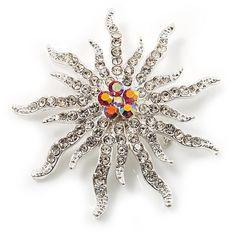 Corsage Sparkling Crystal Star Brooch - CO113TGW40X - Brooches & Pins  #jewellrix #Brooches #Pins #jewelry #fashionstyle