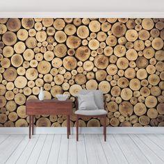Selbstklebende Tapete – Fototapete Holz Homey Firewood