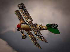 Albatros D.Va painted in the markings of Josef Mai. Ww2 Aircraft, Military Aircraft, Old Planes, Air Festival, World War One, Aviation Art, Military Art, Artwork, German