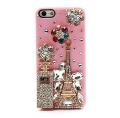 3D No.1 Perfume Bottle and #Eiffel Tower Rhinestone Case for #iPhone5s 5