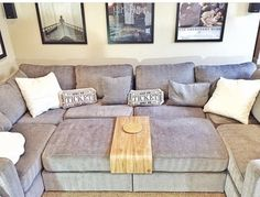 Living room with a Lovesac sactional.
