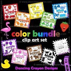 Dancing Crayon Designs - Color Clip Art: Color Clipart Bundle, $18.00 (http://www.dancingcrayon.com/color-clip-art-color-clipart-bundle/)