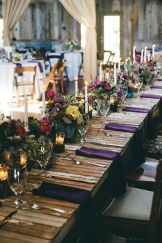 Jewel toned table decor   Photo by You Are My True
