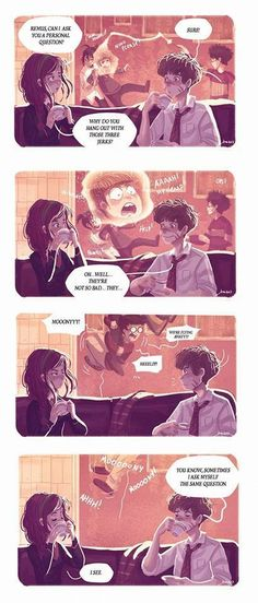 remus and lily and the three idiots