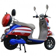 American Flag Scooter  PowerDirtBikes.com Cheap Scooters, Scooters For Sale, Pit Bike, How To Treat Acne, Electric Scooter, Go Kart, 3d Printing, Motors, 3d Shapes