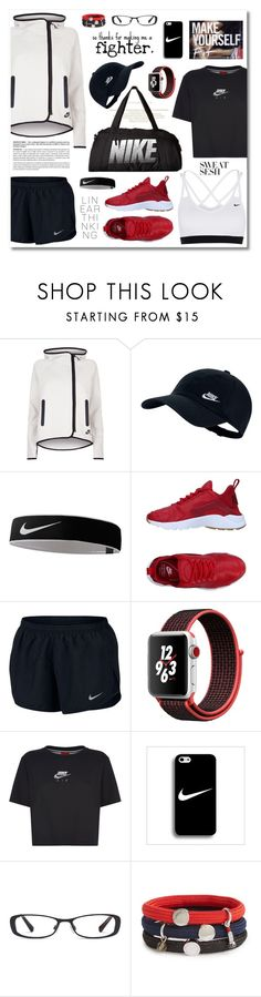 """""""Workout Style: Sweat Sesh"""" by esch103 ❤ liked on Polyvore featuring NIKE, Apple, Marc Jacobs, nike and sweatsesh"""