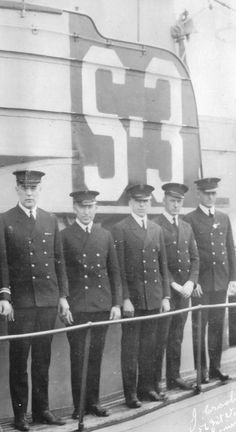 USS S-3 Chief Petty Officers circa 1920