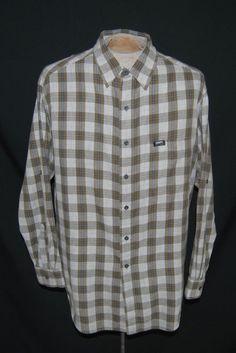 Ralph Lauren Chaps Shirt XL Point, Striaght Long Sleeve Multi-Color Plaid Cotton #RalphLaurenChaps Free Shipping Buy Now $16.95