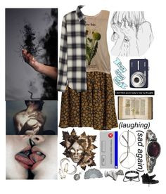 """♕I said, ""What is happening to me?!"" as I cried with these strange black mist seeping out of my hands♕"" by kaninekiller ❤ liked on Polyvore featuring Attic and Barn, Urban Outfitters, Disney, Market, Kodak, Enchanté, Alexis Bittar, Converse and R13"