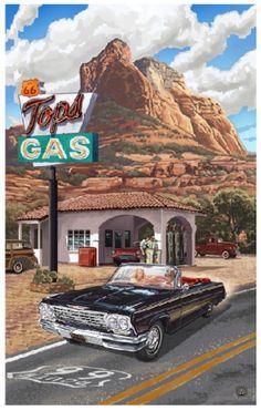 Paul Lanquist Route 66 art
