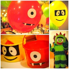 Yo Gabba Gabba 1st birthday party theme?! im thinkin YES :) he loves this weird show haha