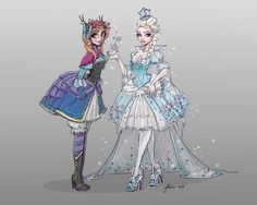 Luv these Anna and Elsa fan art!