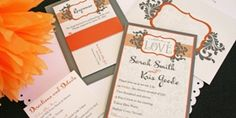 Wedding Color Palette Idea: Orange and Gray - Weddings By the Color