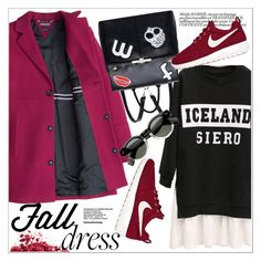 """""""Fall Look: Plus Size Dresses"""" by teoecar ❤ liked on Polyvore featuring NIKE and rosegal"""