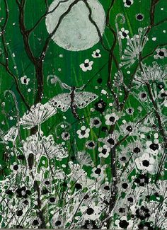 """LAST WEEK OF SALE - ACEO Original """"White Harmony"""" Painting -By Hélène Howse  #ACEOartcards"""