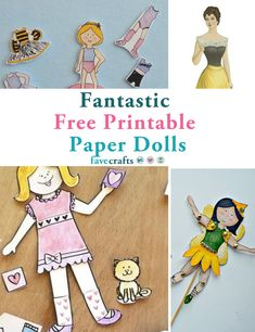 17 Fantastic Free Printable Paper Dolls Paper Doll Craft, Recycled Paper Crafts, Paper Folding Crafts, Toilet Paper Roll Crafts, Paper Crafts For Kids, Paper Toys, Paper Crafting, Diy Crafts, Paper Doll Template