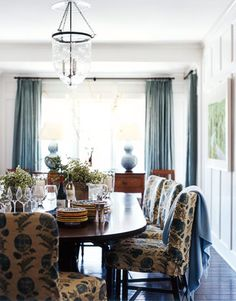 The palest blue in the house is on the dining room walls.