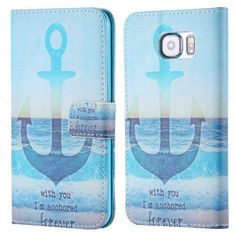Samsung Galaxy S6 Flip Stand Wallet Phone Cover.