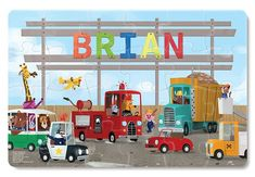 Critters of all kinds show off their favorite vehicles in this charming puzzle. Each x puzzle comes personalized with your child's name. These beautifully illustrated, high quality puzzles are a great way to develop cognitive skills, problem solvi Personalized Books For Kids, Personalized Puzzles, Name Puzzle, Puzzle Books, Little Truck, Jigsaw Puzzles For Kids, Pottery Barn Kids, Book Gifts, Fine Motor Skills