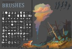12 Sets of Free Photoshop Brushes for Digital Painting Photoshop Tutorial, Free Photoshop, Free Brushes For Photoshop, Psd Brushes, Photoshop Youtube, Digital Painting Tutorials, Digital Art Tutorial, Digital Paintings, Drawing Tutorials
