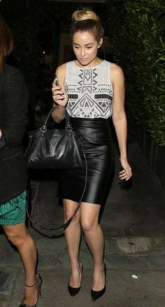 A Black Leather Skirt is a Must. I have one, but its too long :/