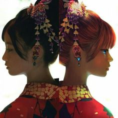 Kagura and otae Okikagu, Best Cosplay, Geisha, Live Action, Black Art, Asian Art, Art Inspo, Anime, Hair