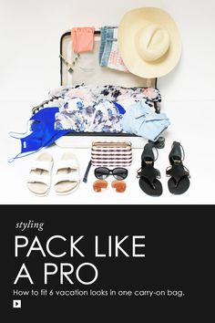 Get ready to roll with our carry-on friendly packing list (and shop our glam getaway picks, too!)