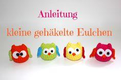 Kunstastisch: kleine Häkeleule - Anleitung