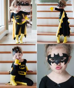 diy batman and batgirl costume - Kids Ideas