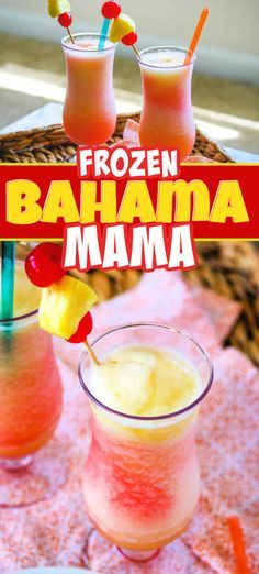 Make this Frozen Bahama Mama and youll feel like youre in the tropics. Its the next best thing to being there and the perfect way to cool off. Its just one of the many drinks you can enjoy while on your Caribbean cruise with Princess Cruises. Fun Cocktails, Cocktail Drinks, Fun Drinks, Cocktail Recipes, Alcoholic Drinks, Holiday Cocktails, Smoothie Drinks, Healthy Smoothies, Smoothie Recipes