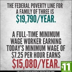 Raise The Minimum Wage so that those working 40+ hours a week don't have to live in poverty...
