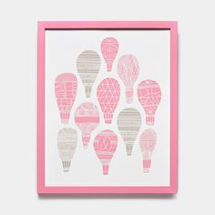 Kids Pastel Floating Air Balloons Print |Modern Home Decor | Unison
