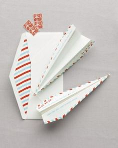 How To Guide for making paper airplane save the dates with matching liners