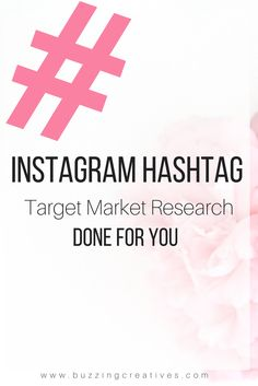 Using the right hashtags increases likes and follows but also keeps your images linked to your niche allowing for your target market to be able to find you forever!     So we will:  Do your target market research  Generate a list of niche-specific hashtags for you!  Provide you with less, moderately and highly populated hashtags to choose from Make your Instagram work for you.