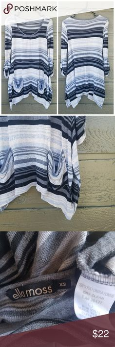 Ella Moss Striped Knit Top Excellent condition  Feel free to ask me any additional questions! Reasonable offers are considered. No trades, or modeling. Happy Poshing! Ella Moss Tops