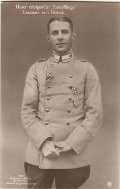 Leutnant Joachim von Bertrab --- Jasta 30; 5 Victories Iron Cross First Class. Died Near Boitzenburg  28 July 1922.