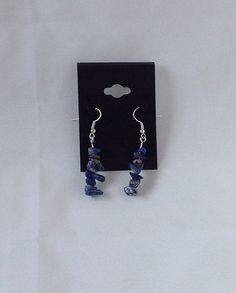 Lapis Lazuli Chakra Gemstone Earrings in by AnnetiqueChic on Etsy