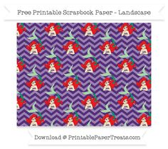 FreeRoyal Purple Chevron Large Ariel Pattern Paper - The Little Mermaid