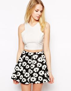 Fashion Union Structured Crop Top